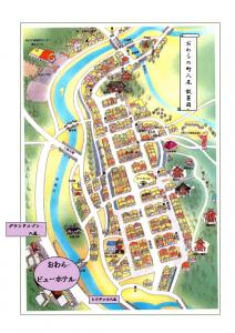 おわらの町八尾散策図